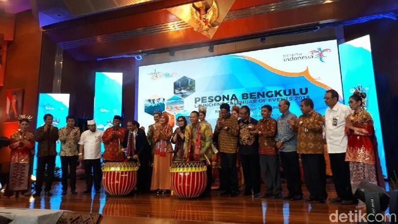 Suasana launching kalender wisata Bengkulu 2018 di Gedung Sapta Pesona (Randy/detikTravel)