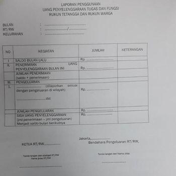 Anies Bebaskan RT/RW dari LPJ Penggunaan Dana Operasional