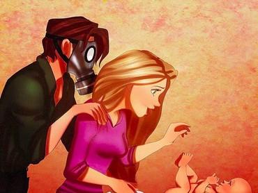 Kocak! Ayah Eugene parno banget pas diajak Bunda Rapunzel ganti popok si kecil.