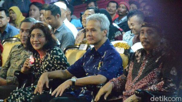 Menteri Susi didampingi Gubernur Jawa Tengah