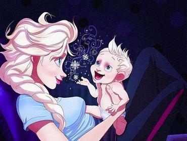 Mirip nggak, Bun, Elsa sama si kecil?