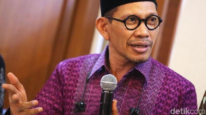 Ketua Pengurus Harian Tanfidziyah PBNU Robikin Emhas (Ari Saputra/detikcom)