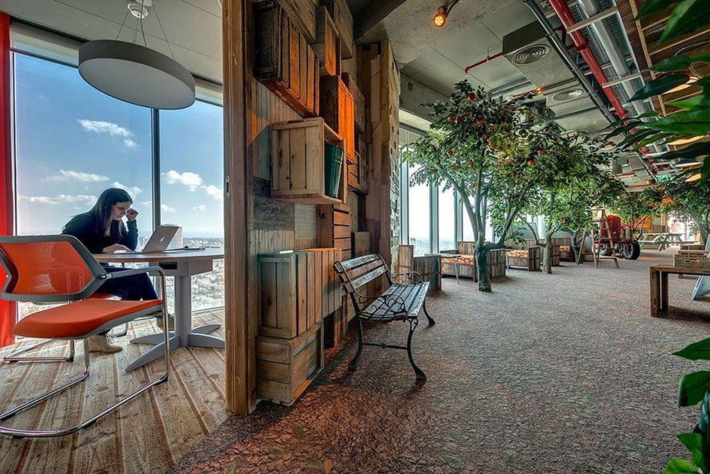 Ini adalah suasana salah satu kantor Google yang sungguh keren. Foto: Office Snapshot
