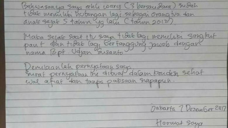 Lansia Telantar Di Got Tak Diakui Anak Ini Surat Pernyataannya