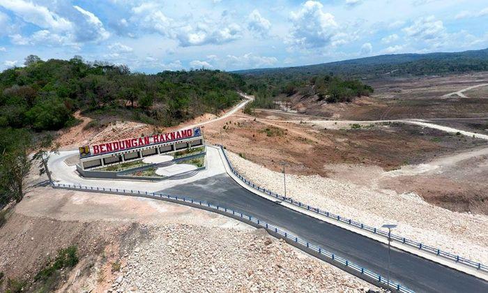 Bendungan Raknamo terletak di Kupang, Nusa Tenggara Timur (NTT). Pool/Kementerian PUPR.