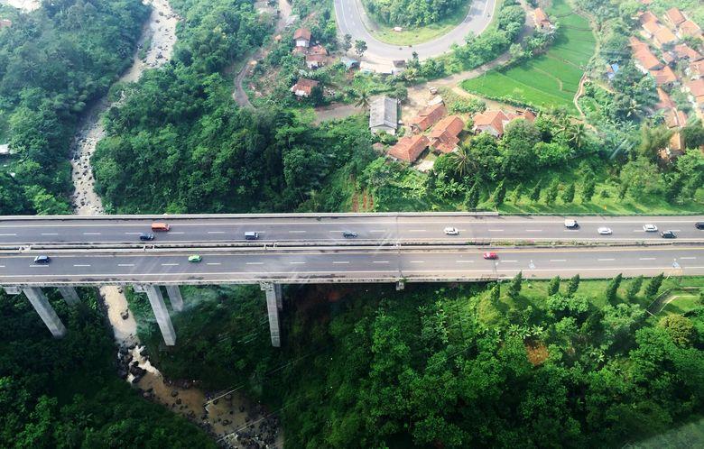 Ruas tol Cikampek Purwakarta Padalarang (Cipularang). Nugroho Tri Laksono/detikcom