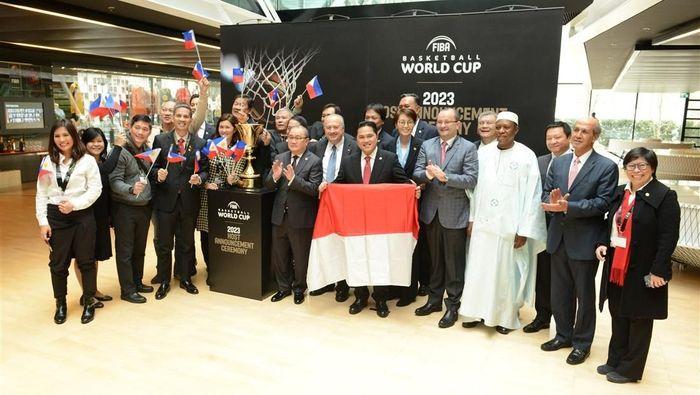 Indonesia tuan rumah Piala Dunia Basket 2023 diumumkan oleh  Presiden FIBA, Horacio Muratore, Sabtu (9/12/2017).