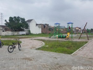 Taman Plaosan Kota Malang yang Dibiayai APBD Rp 500 Juta Mangkrak