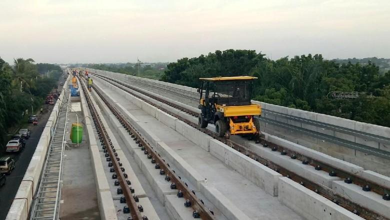 Beroperasi Juni 2018, 5 Stasiun LRT Palembang Siap Digunakan