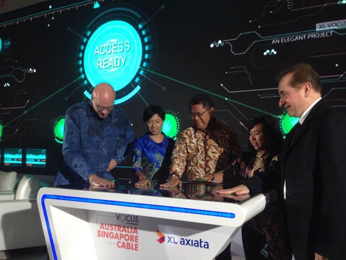 Seremoni peluncuran kerja sama. Foto: Agus Tri Haryanto/inet