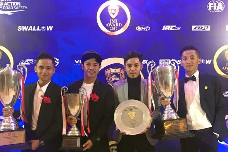 Pebalap Yamaha Racing Indonesia Raih Penghargaan IMI Award 2017 (Foto: Yamaha)