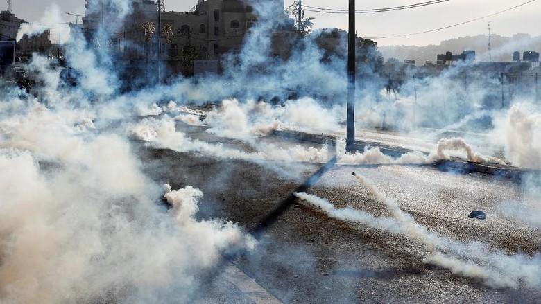 Kecam Trump, Hujan Gas Air Mata di Bethlehem