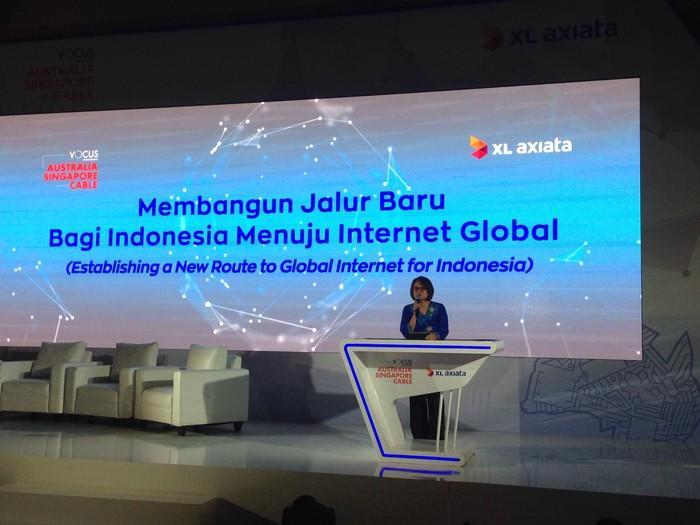 CEO XL Dian Siswarini. Foto: Agus Tri Haryanto/inet
