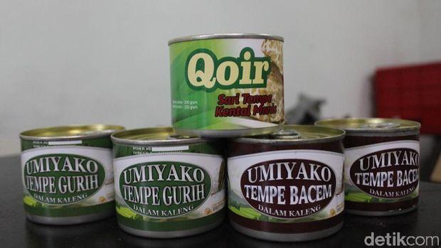 Produk tempe yang sudah diekspor ke berbagai negara.
