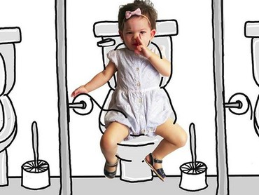 Nggemesin! Lagi di toilet aja Banksii masih sempat bergaya. (Foto: Instagram/ @thuie)
