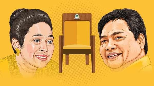 Titiek Soeharto Vs Airlangga, Siapa Kuat Rebut Golkar 1?
