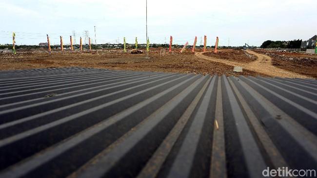 Proyek pembangunan stadion baru Persija. Foto: Rengga Sancaya