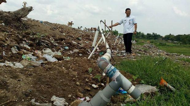 Biogas ini berasal dari sampah di TPA Randegan