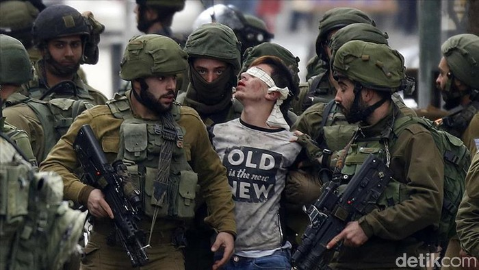 remaja palestina ditangkap tentara israel