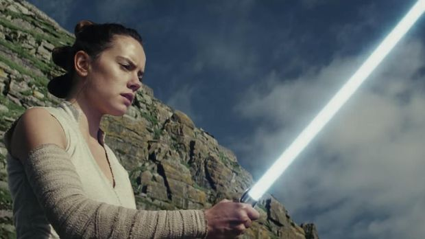 Cuplikan film Star Wars 'The Last Jedi'.
