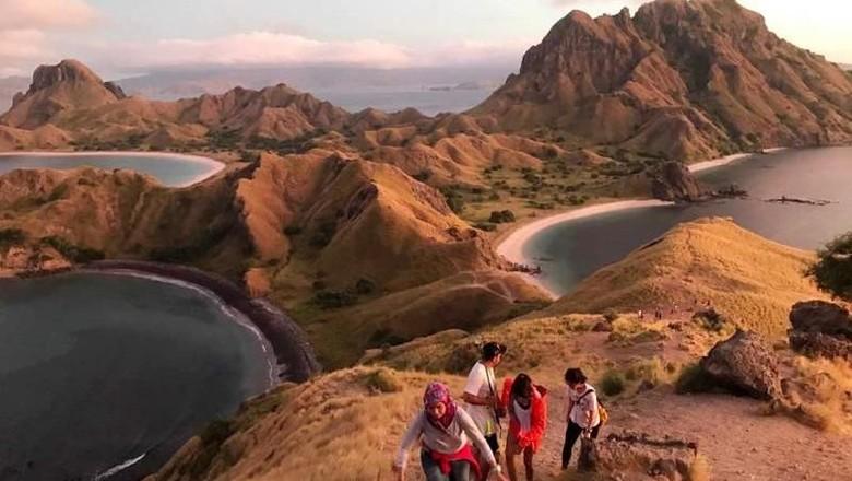Ilustrasi pariwisata Indonesia, Pulau Padar, NTT (Lasti/dTraveler)