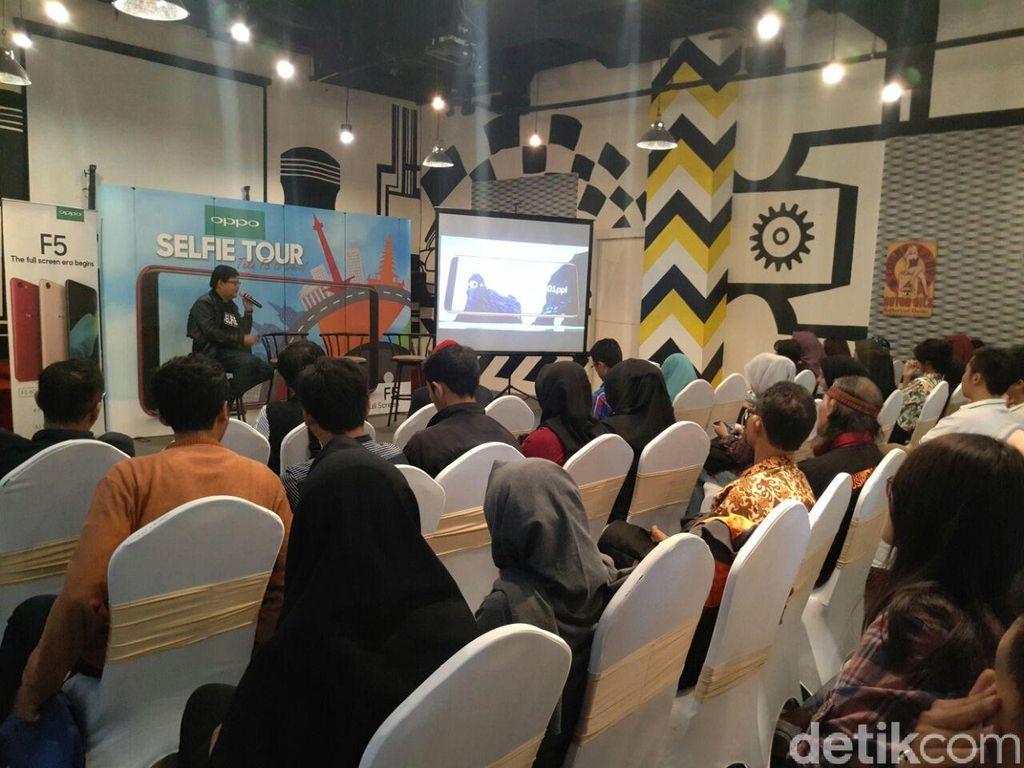 Malang menjadi kota pertama dari rangkaian Selfie Tour with Oppo F5. Foto: Yudhianto/detikINET