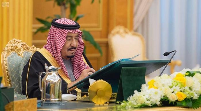 Saudi Arabias King Salman bin Abdulaziz Al Saud presides over a cabinet meeting in Riyadh, Saudi Arabia, December 12, 2017. Saudi Press Agency/Handout via REUTERS ATTENTION EDITORS - THIS PICTURE WAS PROVIDED BY A THIRD PARTY. NO RESALES. NO ARCHIVE.