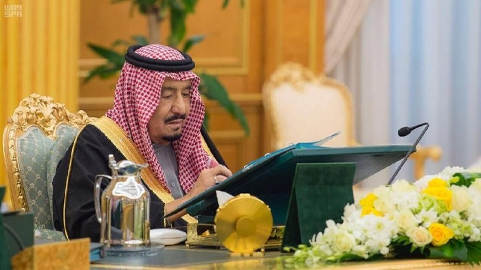 Saudi Arabias King Salman bin Abdulaziz Al Saud presides over a cabinet meeting in Riyadh, Saudi Arabia, December 12, 2017. Saudi Press Agency/Handout via REUTERS ATTENTION EDITORS - THIS PICTURE WAS PROVIDED BY A THIRD PARTY. NO RESALES. NO ARCHIVE.
