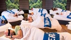 Disebut napercise, salah satu pusat kebugaran asal London, Inggris, mengajarkan orang-orang bagaimana caranya berolahraga dengan tidur siang yang berkualitas.