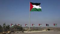 Bendera Palestina berkibar di Rawabi City (Foto: Ilia Yefimovich/Getty Images)