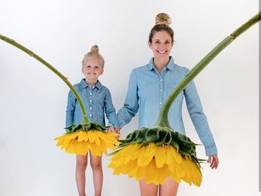 Rok tutu yang menggemaskan ini dipersembahkan oleh bunga matahari. (Foto: Instagram @happygreylucky)