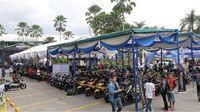 Barisan motor MAXI Yamaha di CustoMAXI Medan (Foto: Dok Yamaha)