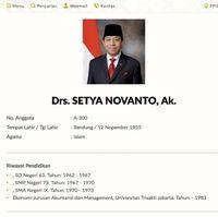 Profil Setya Novanto.