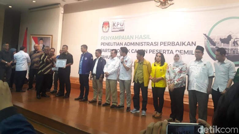 12 Parpol Lolos ke Tahap Verifikasi Faktual Pemilu 2019