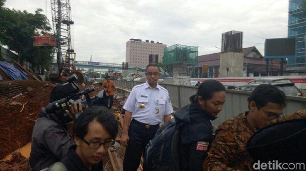 Lokasi ini sempat banjir ketika Jakarta diguyur hujan ekstrem pada Selasa (12/12) lalu