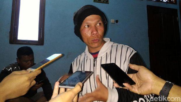 Sucipto, salah seorang pendaki yang sempat hilang di Gunung Merapi.