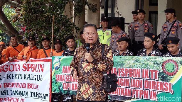 Dirut PTPN IX Irianto Hutagaol menemui karyawan