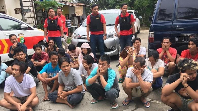 33 Orang di Tanah Kusir Terjaring Razia Narkoba