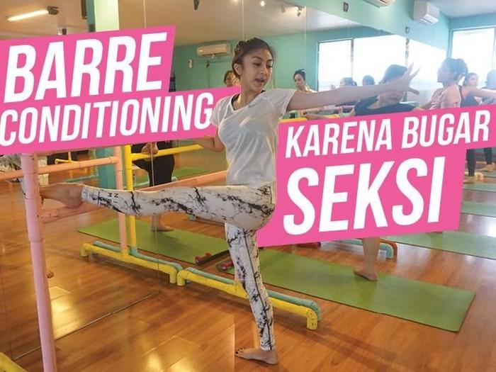 Barre conditioning bukan hanya bisa dilakukan oleh perempuan, pria pun bisa melakukannya. Foto: Widiya Wiyanti/detikHealth