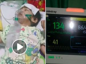 Perjuangan Dedek Nayla Melawan Pneumonia Banjir Simpati di Medsos
