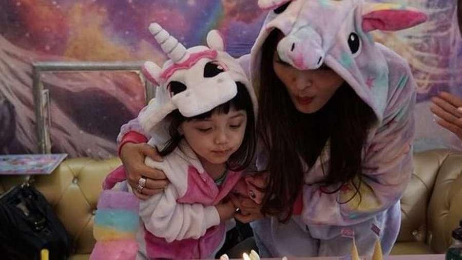 Intip Serunya Pesta Unicorn di Ulang Tahun Ke-3 Arsy