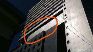 M Taufik: Tembok Miring di Gedung DPRD Baru Kelihatan