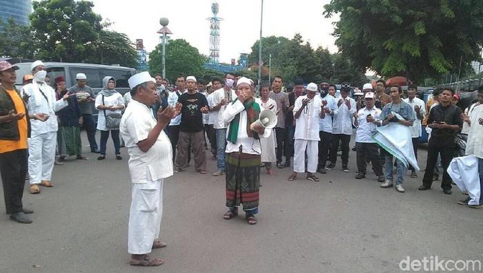 Demo menolak DWP di JIExpo Kemayoran, Jumat (15/12/2017) Foto: Indra Komara/detikcom