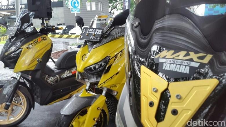 Puluhan Yamaha Xmax, Nmax dan Aerox Modif Sapa Tangerang Foto: M luthfi Andika