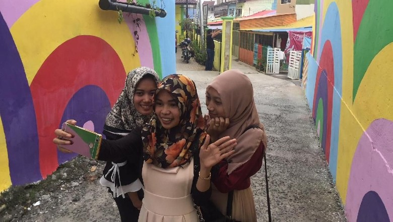 Melihat Kampoeng Selfie di Medan, Dulu Kumuh Kini Berseri