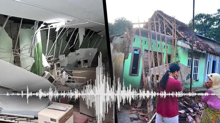 Ilustrasi gempa Jawa (Ilustrasi: Andhika Akbaryansyah/detikcom)