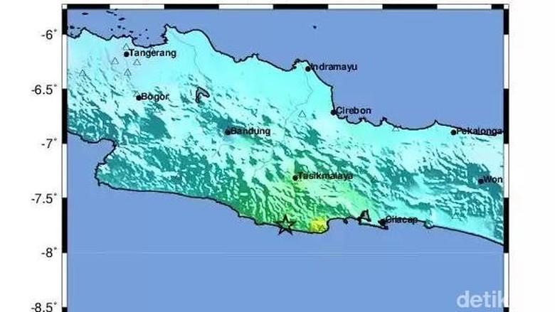 Ini Peta Daerah yang Paling Terdampak Gempa
