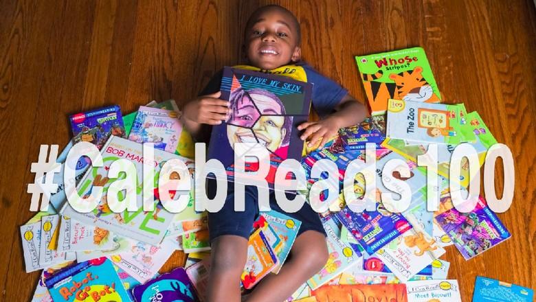 Caleb, bocah yang bisa baca 100 buku dalam semalam (Foto: Facebook The Amazing Green Kids and Friends)