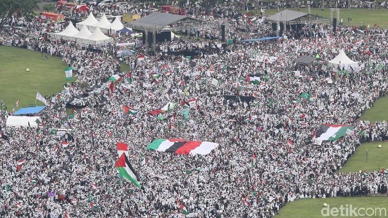 Foto: Melihat Lagi Aksi Bela Palestina dari Atas