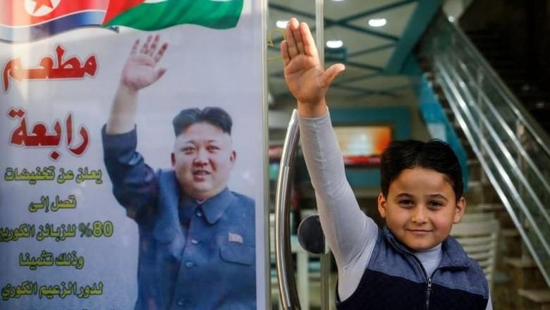 Ini Restoran di Gaza yang Jadikan Kim Jong-Un Sebagai Idola